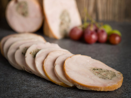 Chicken Galantine Rolled Breast with Stuffing