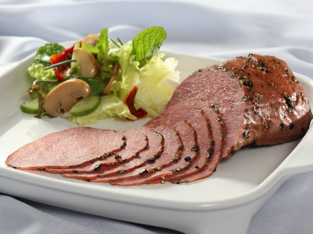 Processed Smoked Beef with Pepper