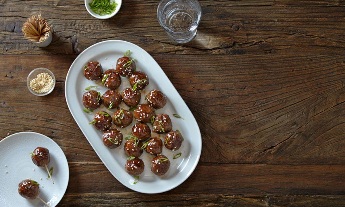Teriyaki Crescent Meatballs